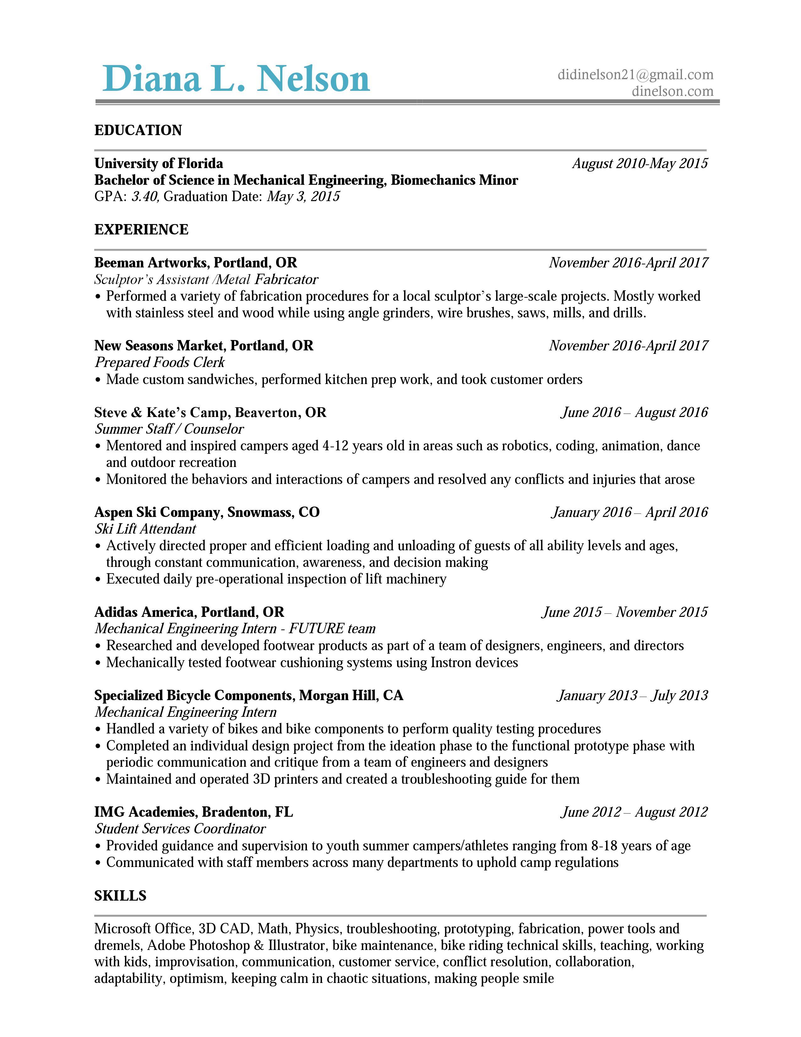 bicycle mechanic resume sales mechanic marketing resume cover